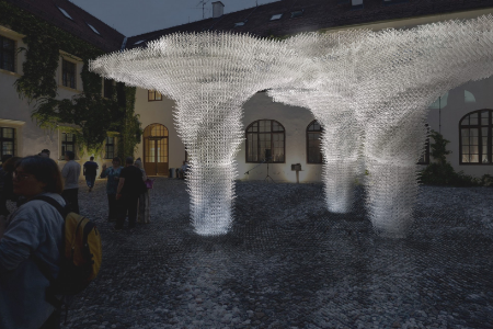 Cloud Pergola (Mathematized Cloud) / Zagreb City Museum - big courtyard